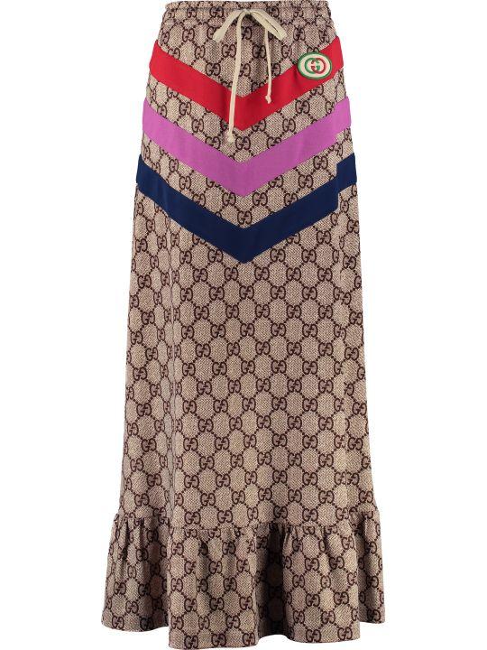 Gucci Gg Motif Long Skirt