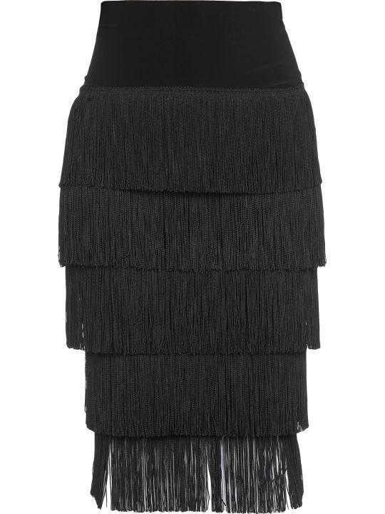 Norma Kamali Fringes Skirt