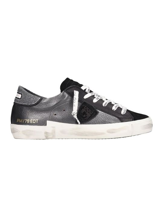 Philippe Model Prsx L.d. Sneakers In Black Leather
