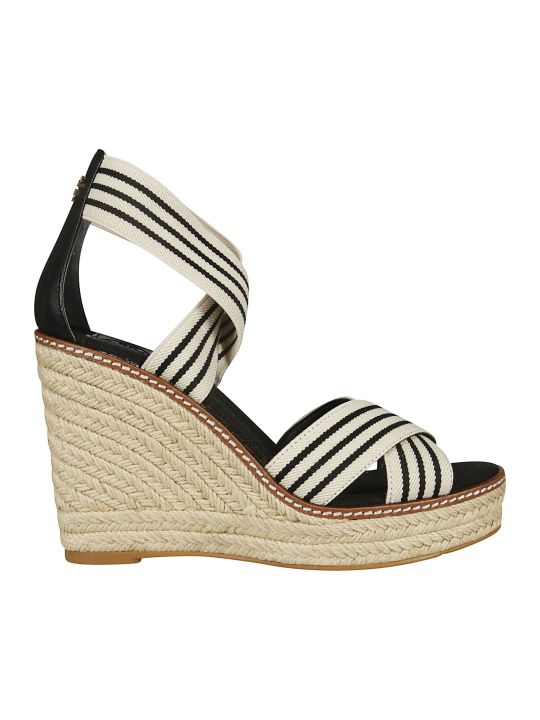 Tory Burch Cross Strap Wedge Sandals