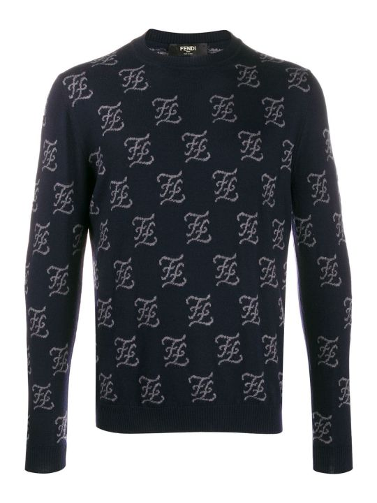 Fendi Karligraphy Allover Sweater