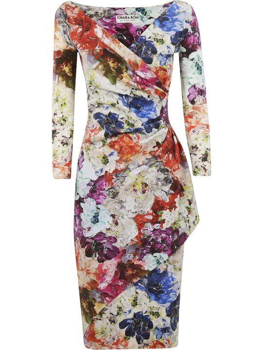 La Petit Robe Di Chiara Boni Chiara Boni Floral Print Draped Dress