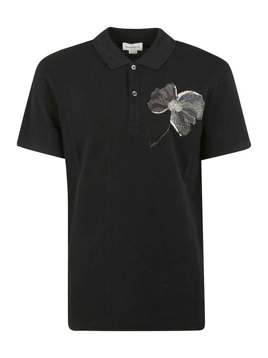 Alexander McQueen Floral Detailed Polo Shirt