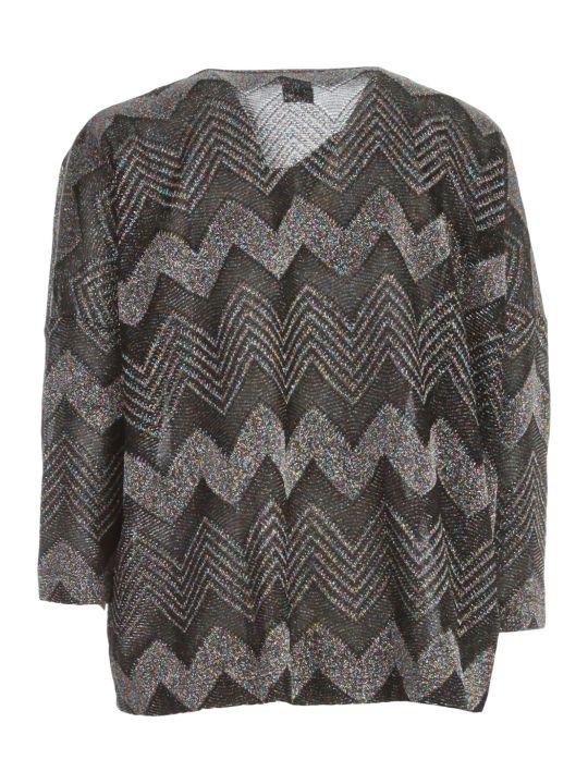 M Missoni Sweater L/s Crew Neck Zig Zag