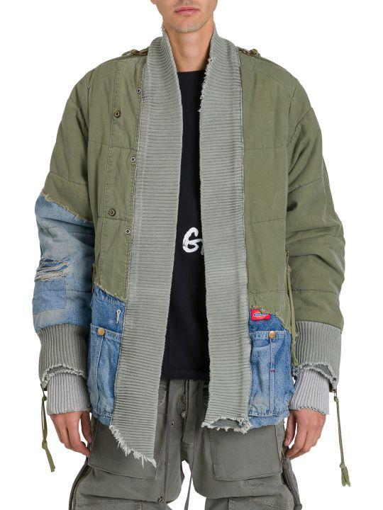 Greg Lauren Denim And Military Jacket