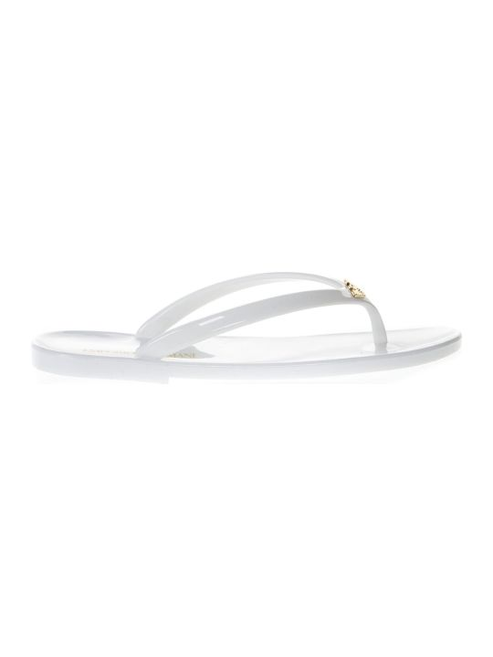 Emporio Armani White Rubber Sandals