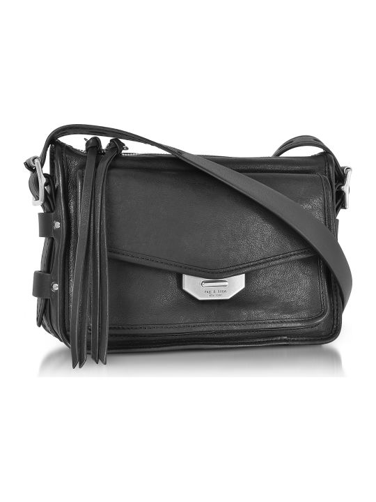 Rag & Bone Black Leather Small Field Messenger Bag