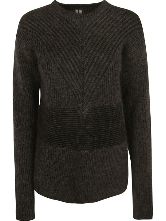 Rick Owens Striped V Knit Jumper
