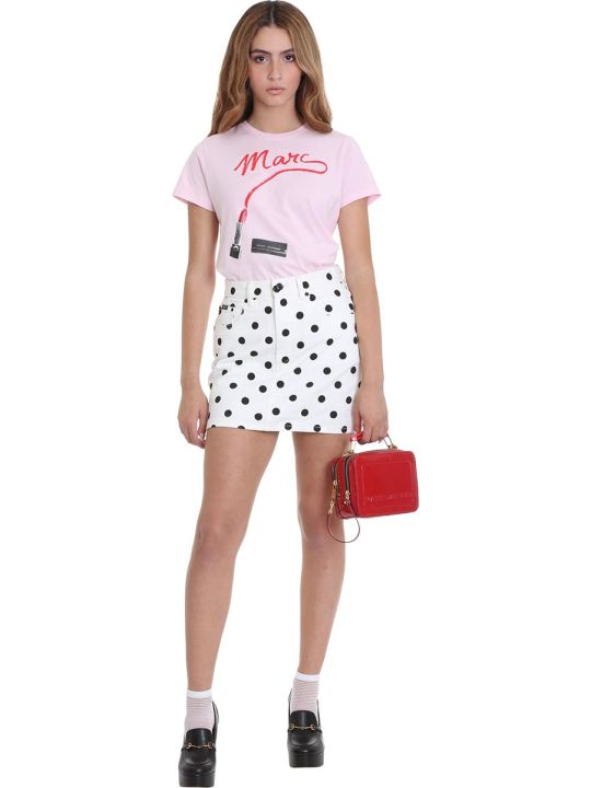 Marc Jacobs T-shirt In Rose-pink Cotton
