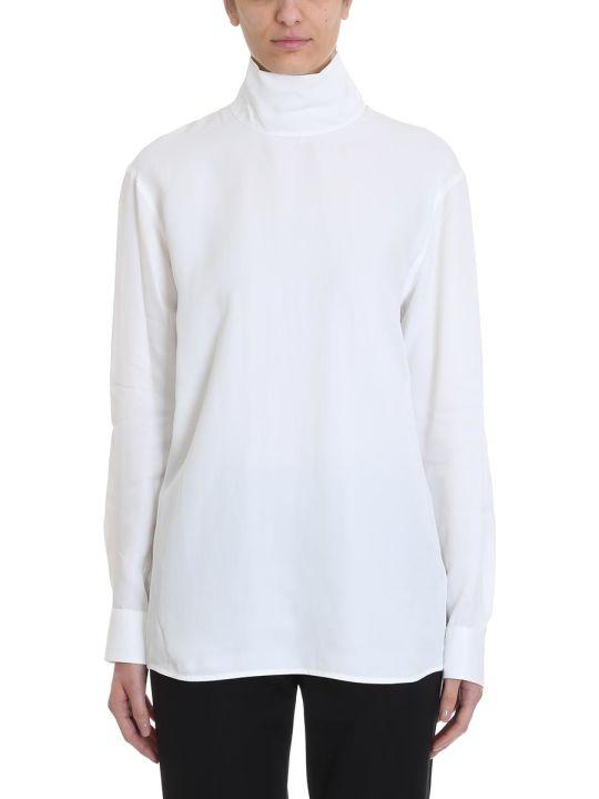 Helmut Lang White Viscose Shirt