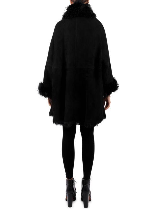 Alaia Black Lambskin Gitana Coat