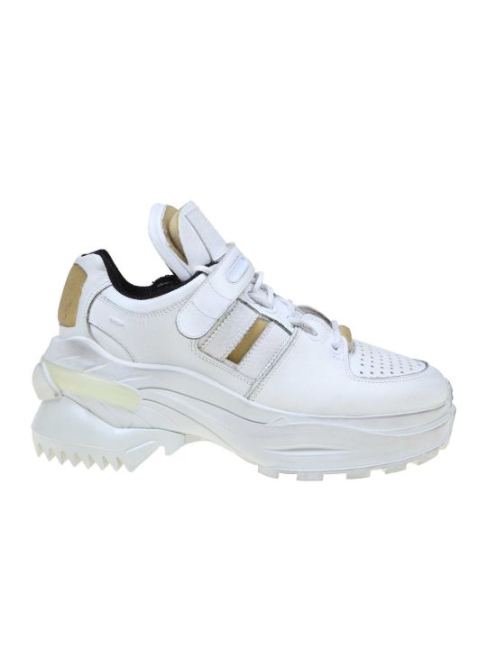 Maison Margiela Low-top Sneakers Retro Fit In Leather White Color