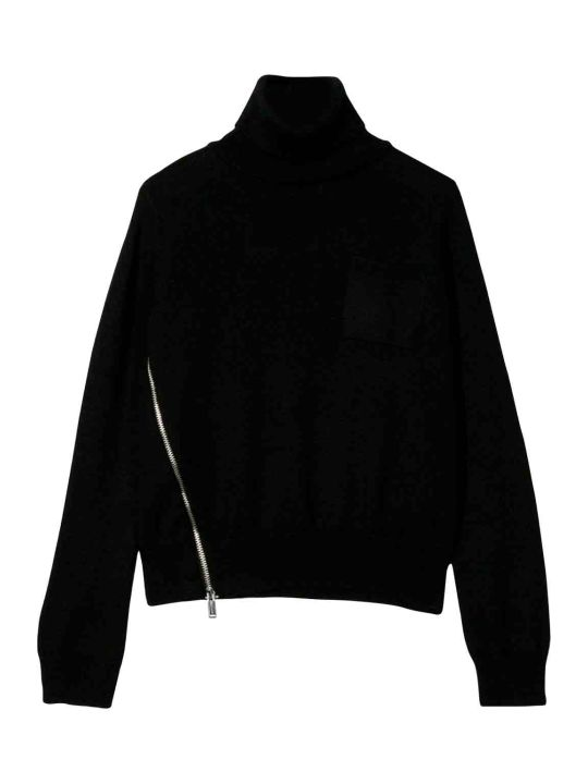 Dsquared2 Black Sweater Teen High-necked