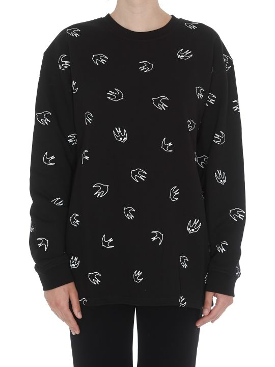 McQ Alexander McQueen Back Pleated Swallow Sweatshirt