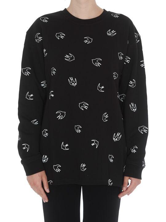 McQ Alexander McQueen Back Pleated Swallow Sweatshirt