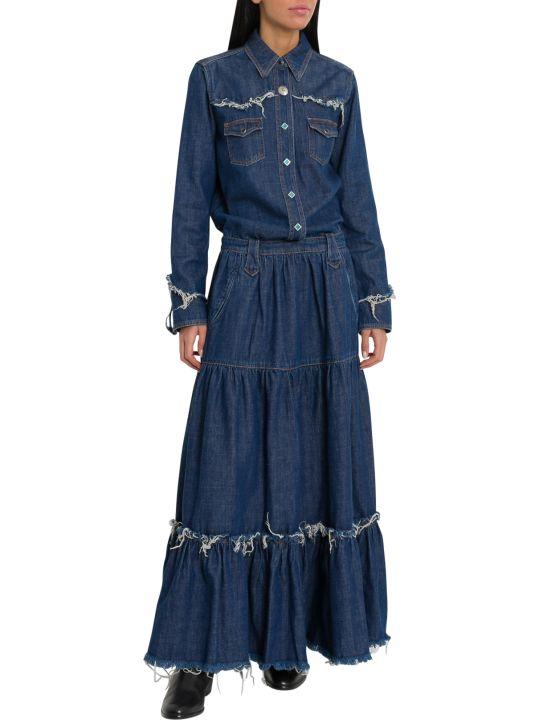 Alanui Hollywood Denim Long Dress