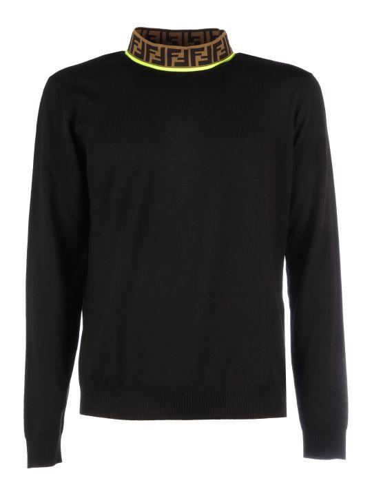 Fendi Logo Knit Merinos Sweater