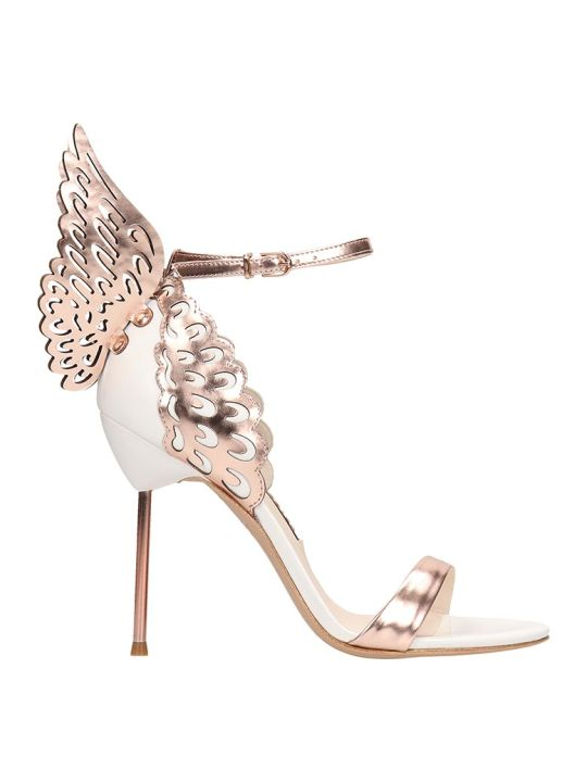 Sophia Webster White And Bronze Leather Evangeline Sandals