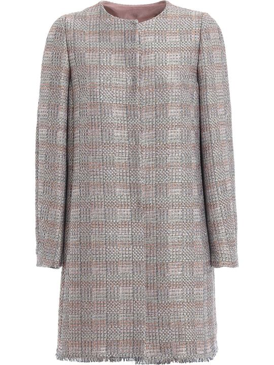 Emporio Armani Long Tweed Coat