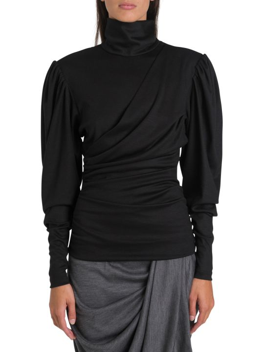 Isabel Marant Turtkleneck With Puffed Sleeves And Drapery