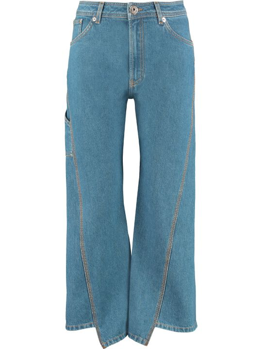 Lanvin High-waist Wide-leg Jeans