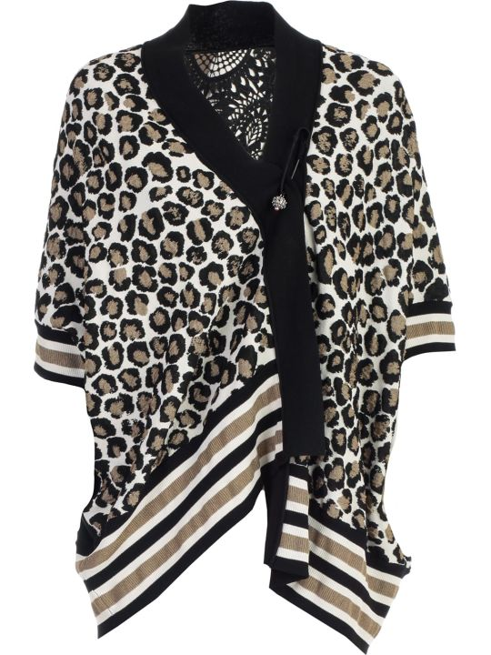 Antonio Marras Cardigan 3/4s Animalier Lace Behind