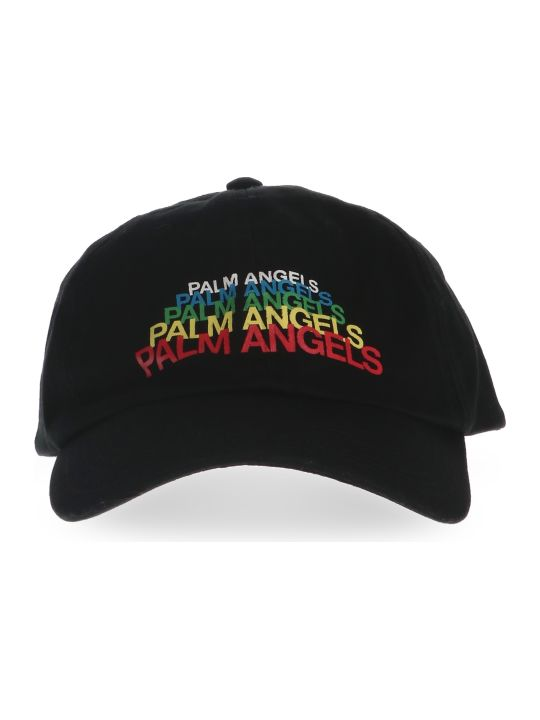 Palm Angels 'logo Rainbow' Cap