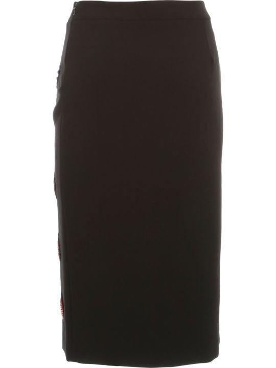 Moschino Pencil Skirt W/heart