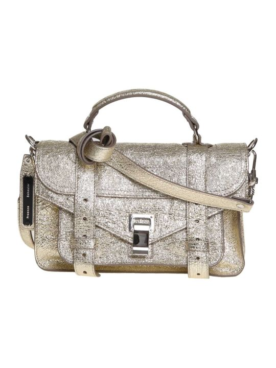 Proenza Schouler Ps1 Shoulder Bag In Platinum Colored Leather