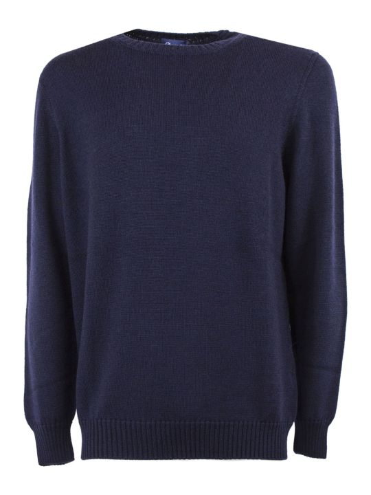 Drumohr Blue Merino Wool Sweater
