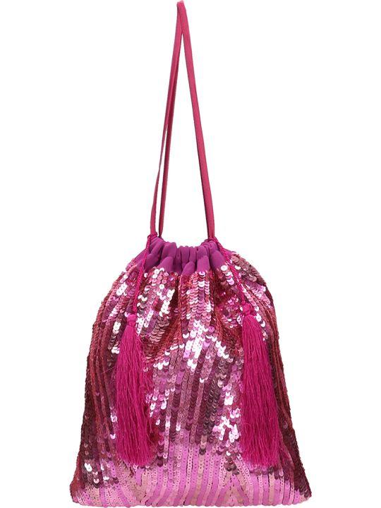 ATTICO Fuchsia Fabric Clutch Bag
