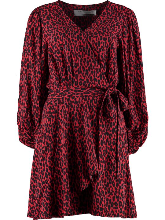 IRO Boina Leopard Print Wrap Dress