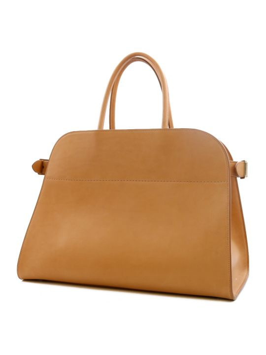 The Row Margaux 15 Bag Beige