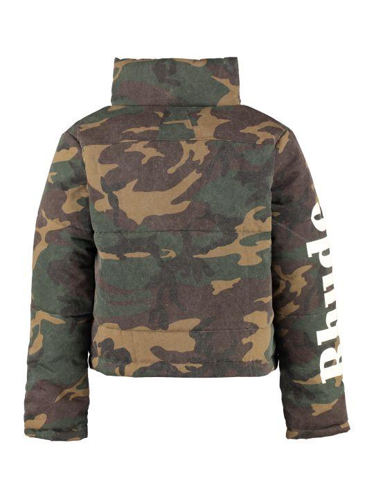 Rhude Camouflage Print Padded Jacket