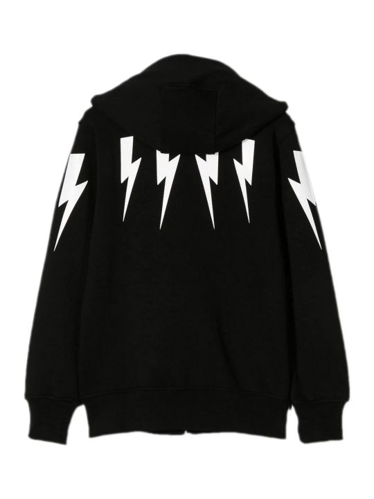 Neil Barrett Black Cotton Hoodie