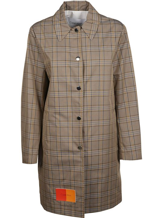Calvin Klein Checked Coat