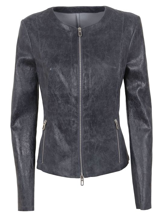 DROMe Slim-fit Zipped Jacket,