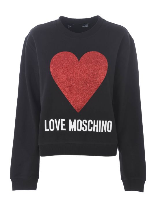 Love Moschino Glitter Heart Sweatshirt