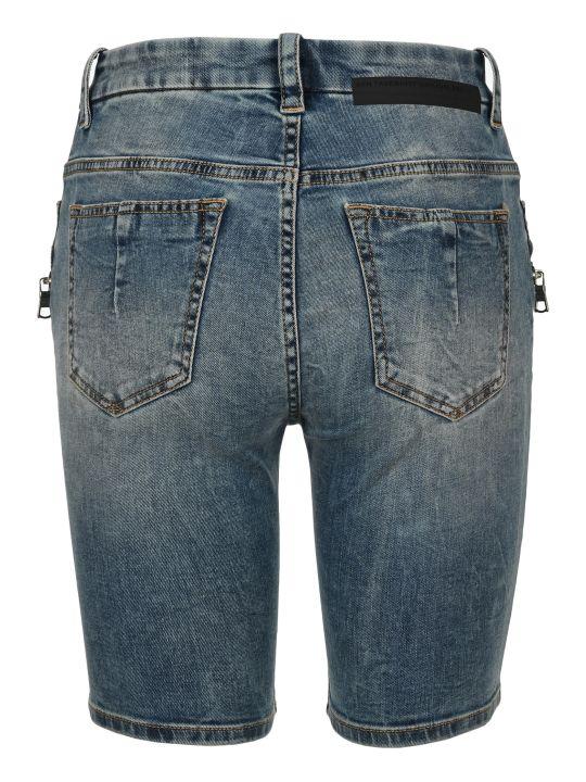 Ben Taverniti Unravel Project Unravel Laced Denim Shorts