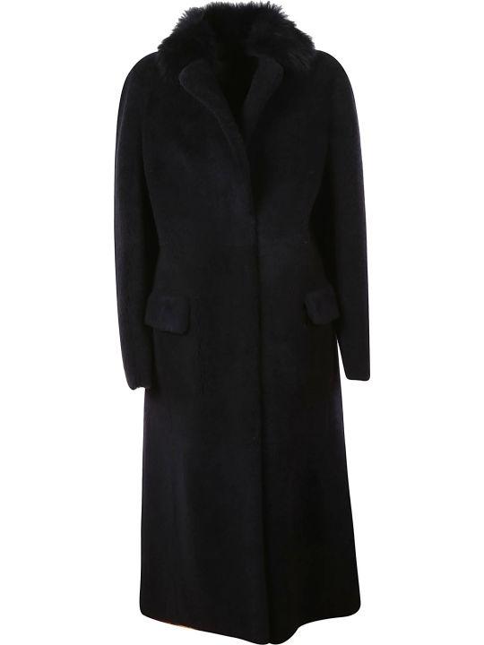 Blancha Fur Trimmed Long Coat