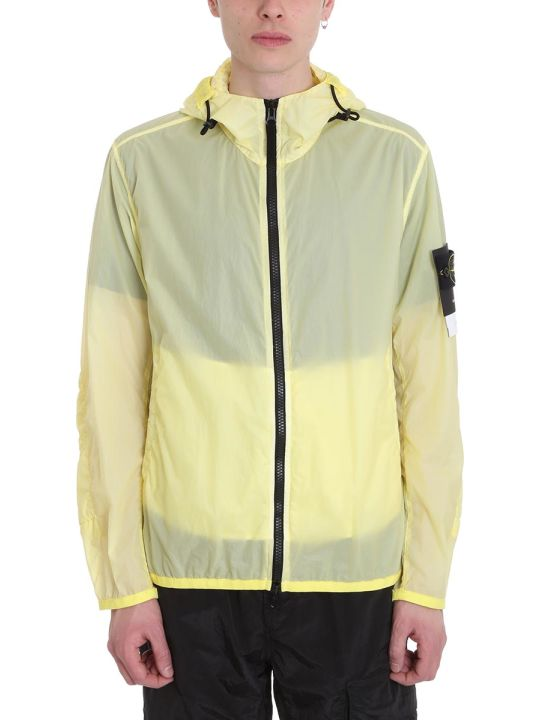 Stone Island Yellow Lamy Velour Nylon Jacket