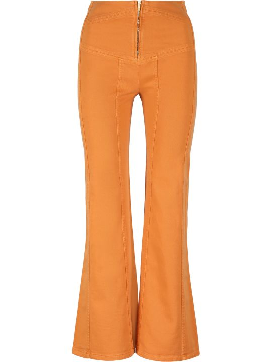 Alberta Ferretti Denim Flared Pants