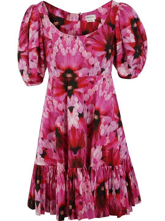 Alexander McQueen Floral Print Mid-length Dress