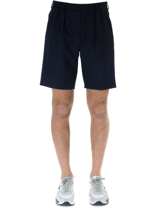 Golden Goose Blue Wool Blend Kenan Short With Pences