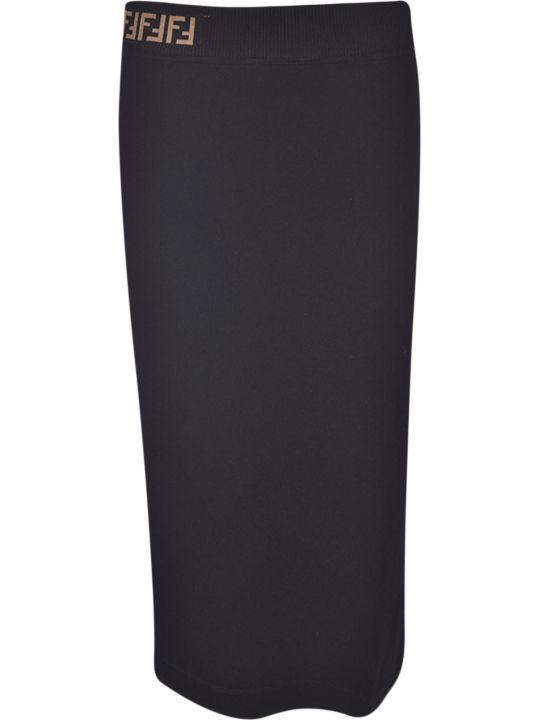 Fendi Ff Logo Skirt