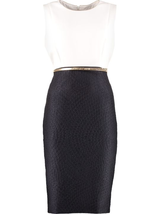 Max Mara Studio Aguzze Belted Sheath Dress