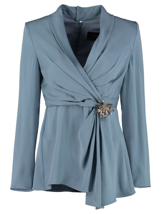 Max Mara Assiro Silk Blouse With Long Sleeves