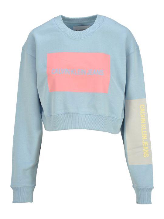 Calvin Klein Jeans Cropped Logo Print Sweatshirt
