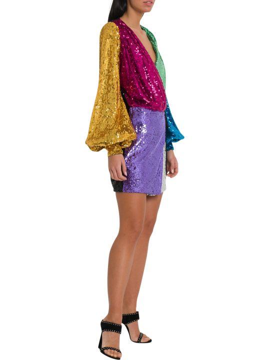 ATTICO Colorblock Mini Wrap-dress