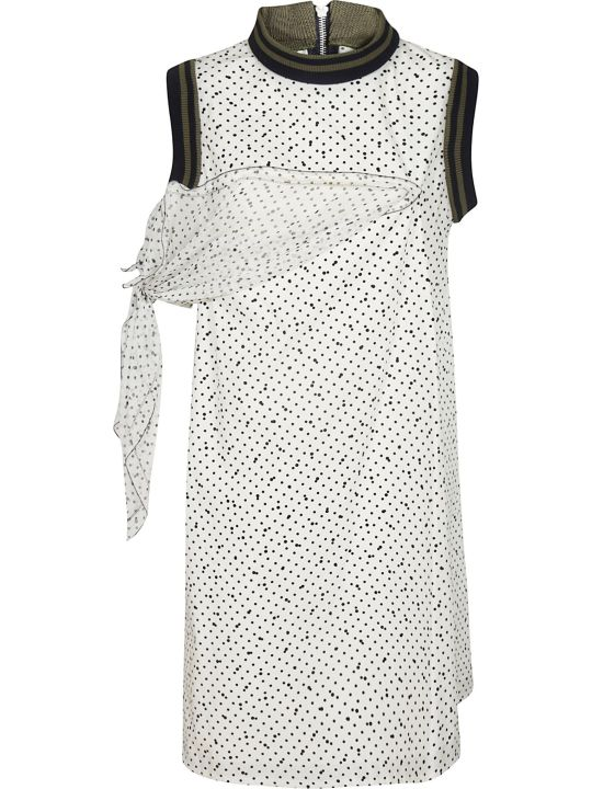 Sacai Side Panel Shift Dress